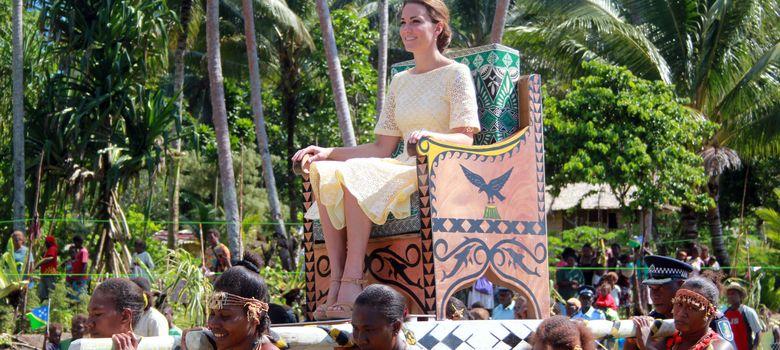 Foto: Kate Middleton, en una imagen de archivo durante su visita a la isla Solomon (I.C.)