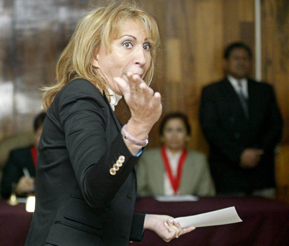 Bozzo durante una sesión del juicio contra ella en la Corte de Lima, Perú (Reuters).