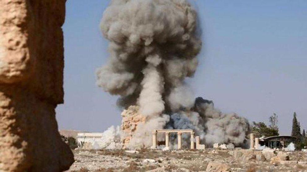 El EI difunde imágenes de la aniquilación del histórico templo sirio de Baal