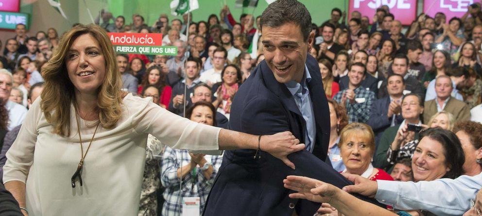 Foto: El secretario general del PSOE, Pedro Sánchez, y la presidenta de la Junta de Andalucía, Susana Díaz. (EFE)