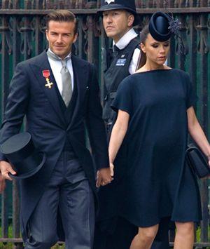 David y Victoria Beckham, padres de una niña