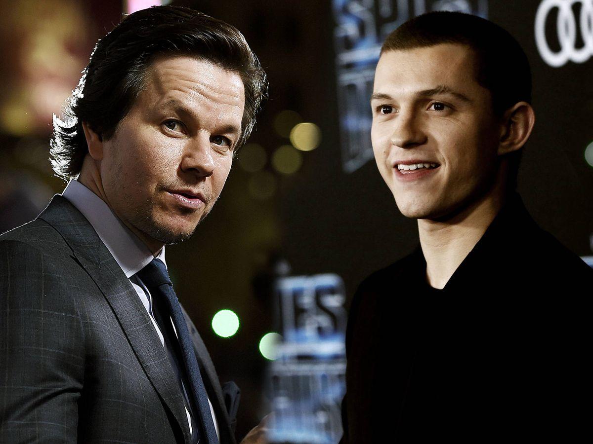 Foto: Mark Wahlberg y Tom Holland. (Reuters)