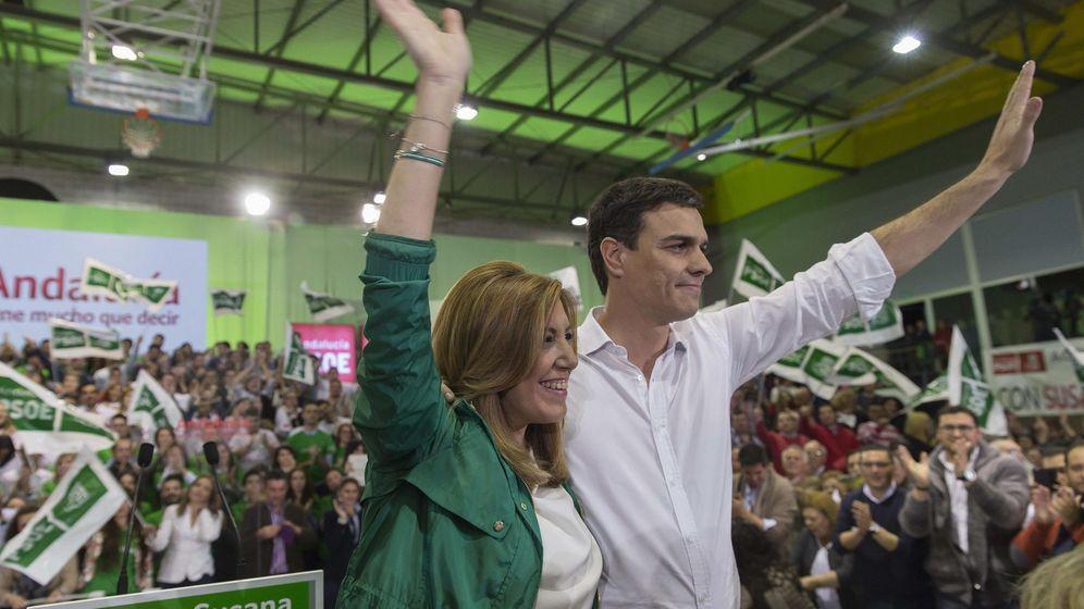Foto: Susana díaz y Pedro Sánchez en un mitin en Sevilla. (EFE)
