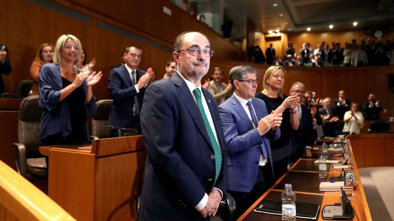 Javier Lambán, en el Parlamento aragonés. (EFE)