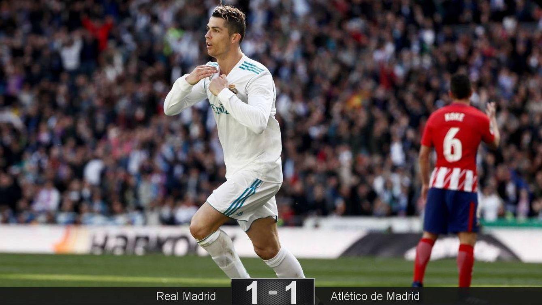 Foto: Cristiano Ronaldo marcó el gol del Real Madrid en el derbi contra el Atlético. (EFE)