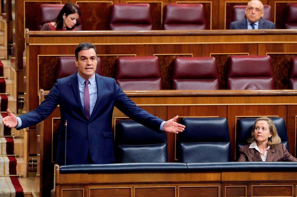 Foto: Pedro Sánchez, este 15 de abril en la sesión de control del Congreso. (Reuters)