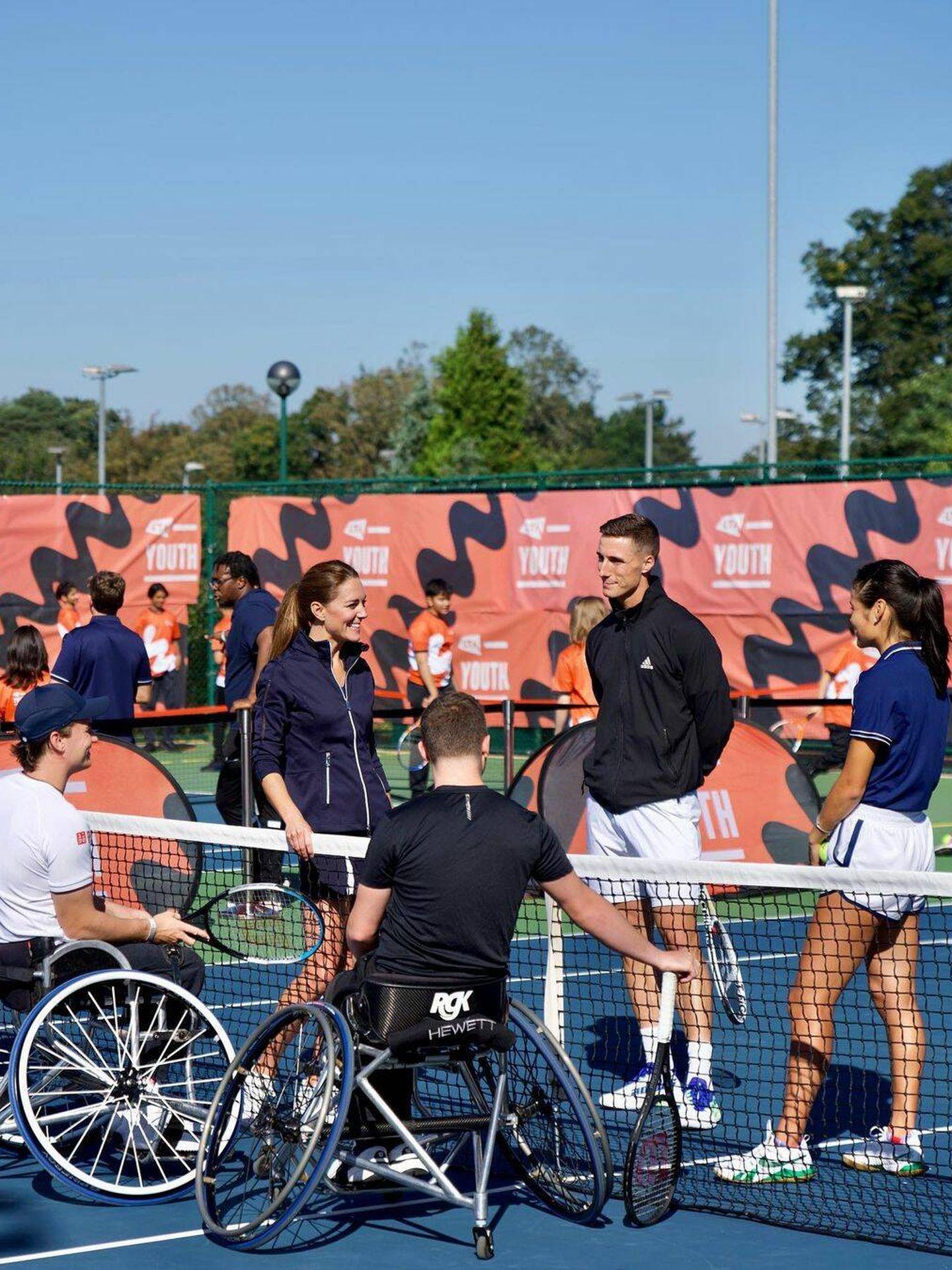 La duquesa de Cambridge, con los tenistas del Abierto de Estados Unidos. (Instagram  @dukeandduchessofcambridge)
