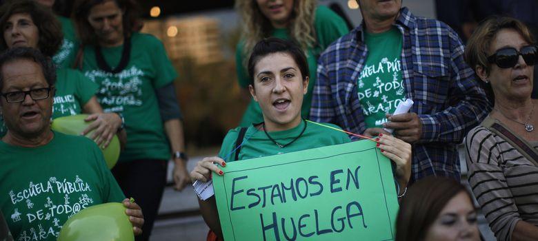 Foto: La jornada de huelga general educativa
