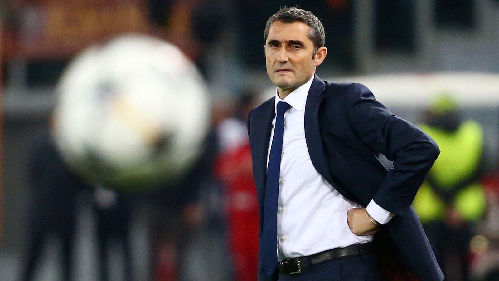 Foto: Ernesto Valverde, durante el Roma-Barcelona de cuartos de final de la Champions. (Reuters)