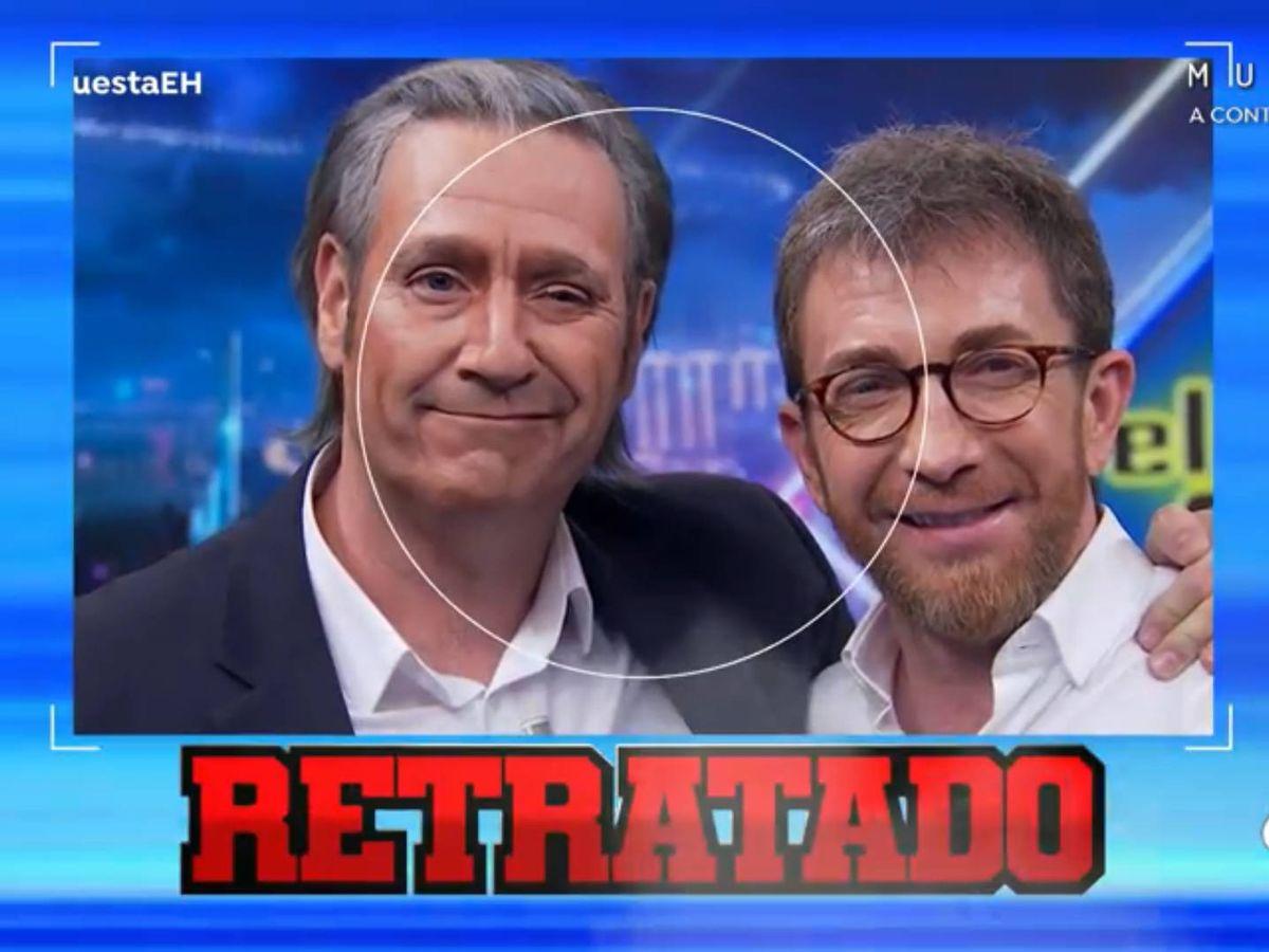 Foto: Carlos Latre, como Pedrerol en 'El hormiguero'. (Antena 3)