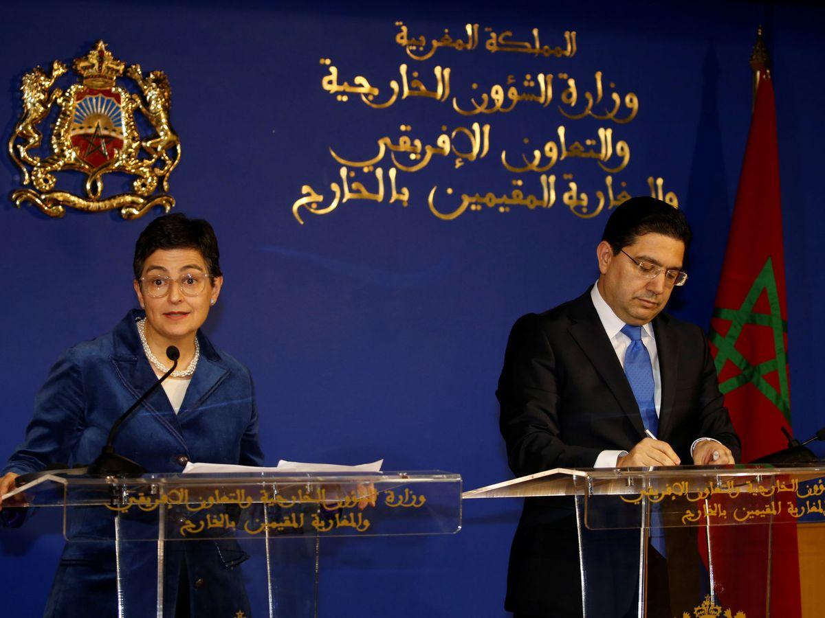 Foto: La exministra de Exteriores Arancha González Laya, durante su visita a Rabat en enero de 2020. (Reuters)