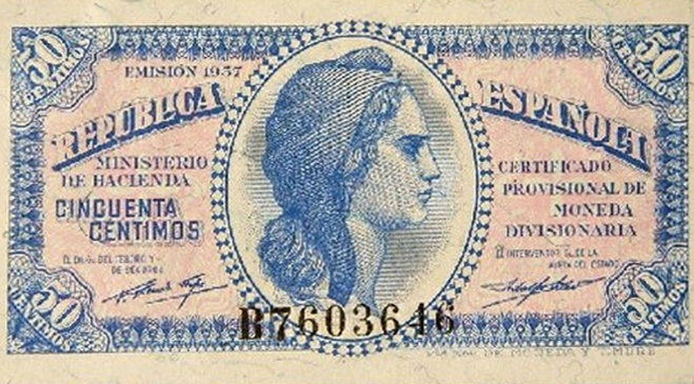 Foto: Billete de la II República Española