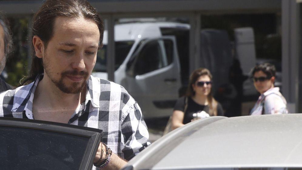 Foto: El líder de Podemos, Pablo Iglesias, tras una reunión del consejo de coordinación del partido. (EFE)