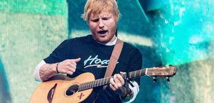 Post de Ed Sheeran ondea la bandera de España y vuelve loco al Wanda Metropolitano