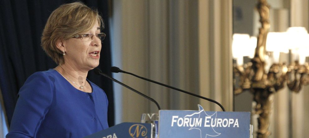 Foto: La presidenta de Sareb, Belén Romana (EFE)