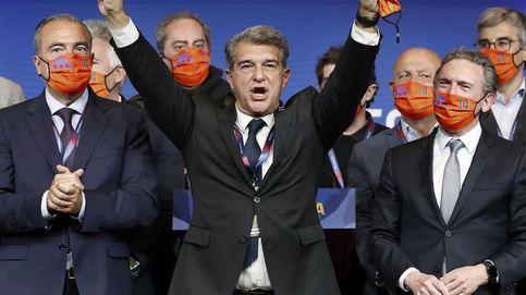 Jaume Roures avala a Laporta, que lo celebra cantando el himno del Barça en la notaría