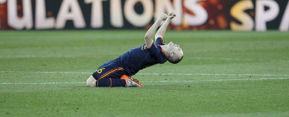 """Foto: Dos años """"del gol de todos"""", aquel que cambió la historia del fútbol español"""