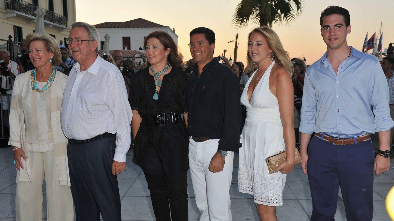 La familia real griega, en una imagen de archivo. (Getty)