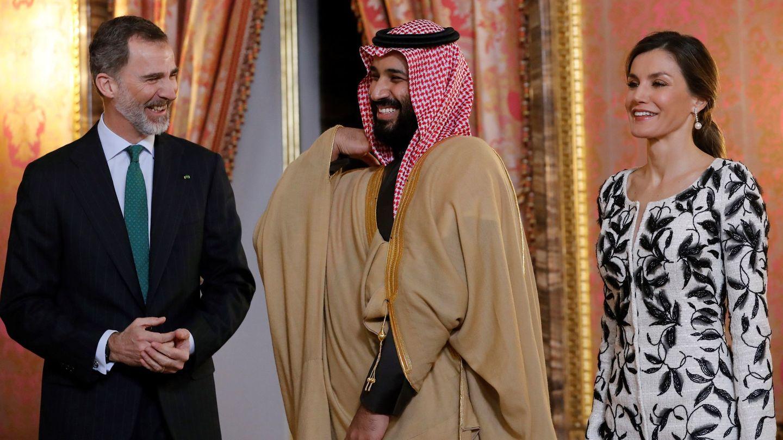 Los Reyes, con el príncipe saudí Mohamed bin Salman en 2015. (EFE)