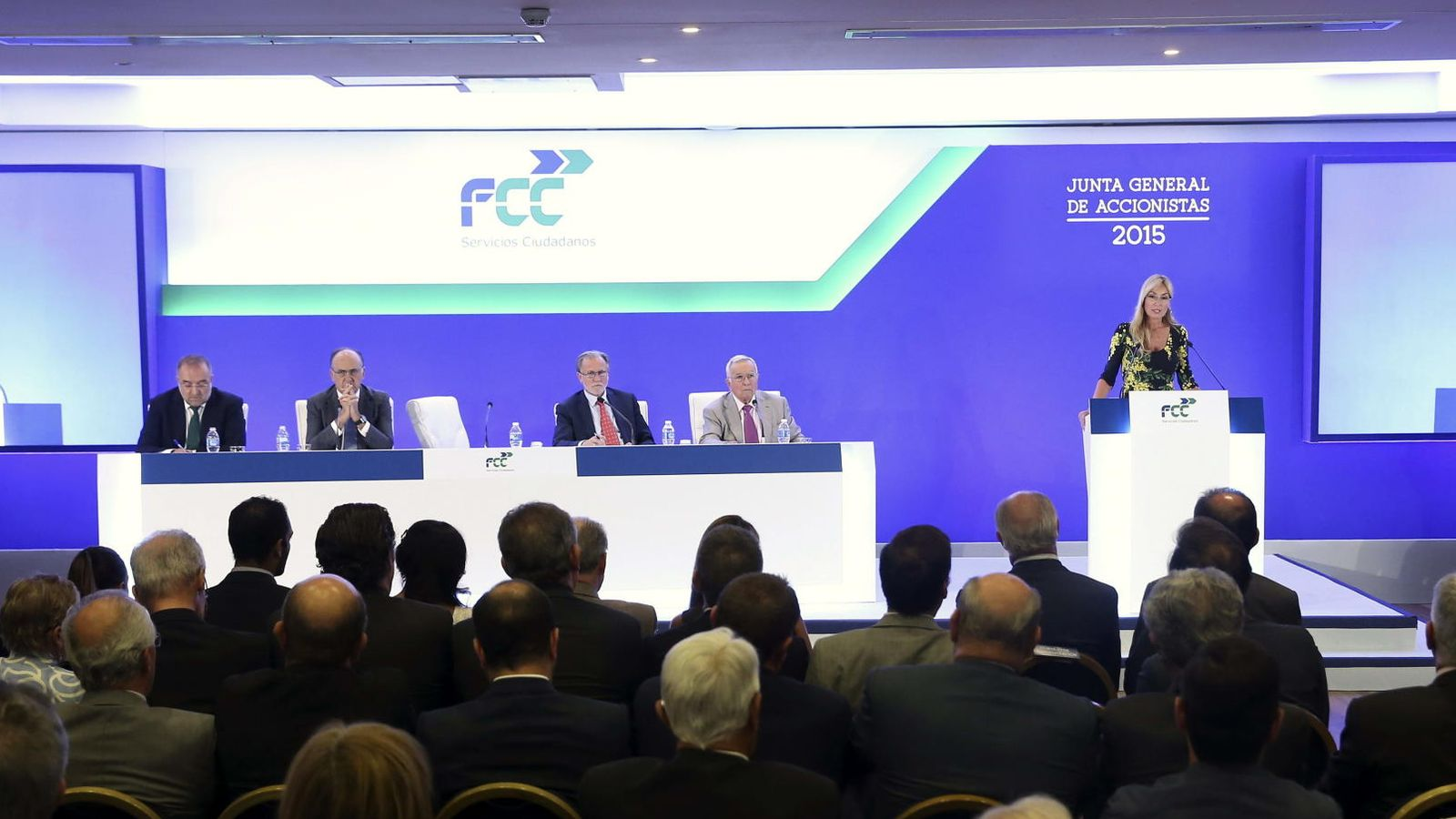 Foto: Junta de accionista de FCC. (Efe)