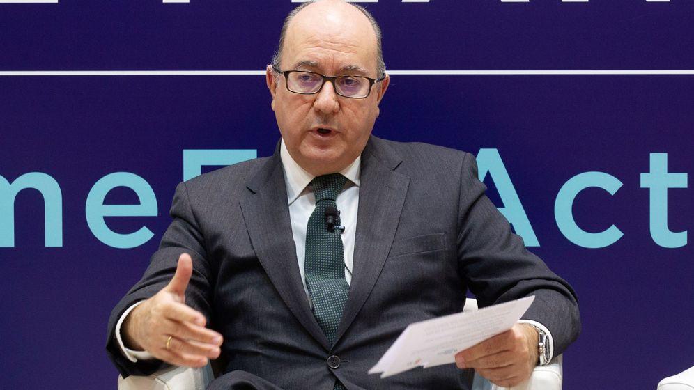 Foto: El presidente de la Asociación Española de Bancos (AEB), José María Roldán (EFE)