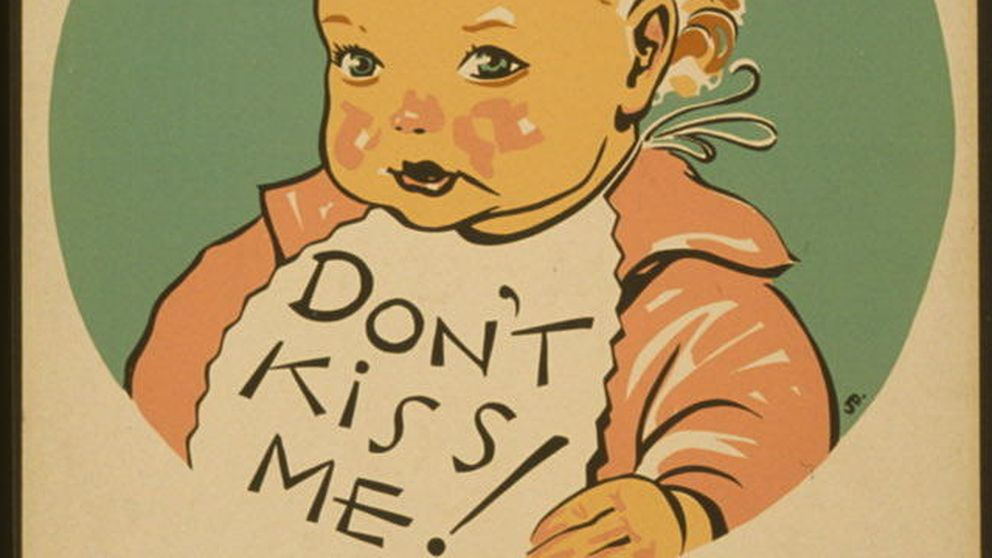"""""""Besar con afección, el germen de la infección"""": así era la propaganda de salud de los años 30"""