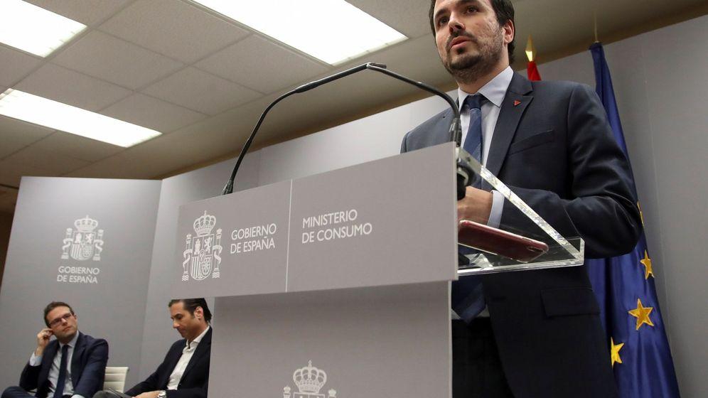 Foto: El ministro de Consumo, Alberto Garzón, durante una rueda de prensa celebrada esta semana. (EFE)