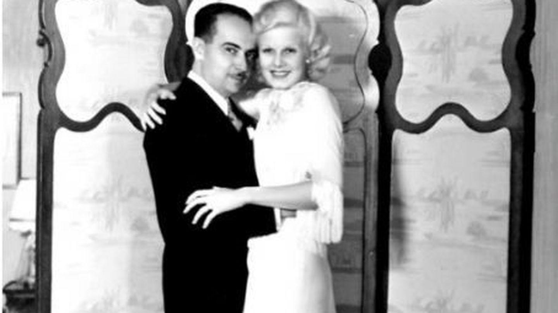 Una de las imágenes de Paul Bern y Jean Harlow.