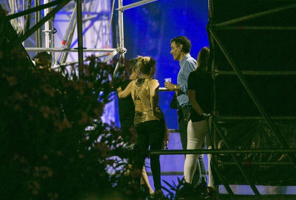 Foto: Pedro Sanchez en el backstage del FIB, el pasado julio. (EFE)