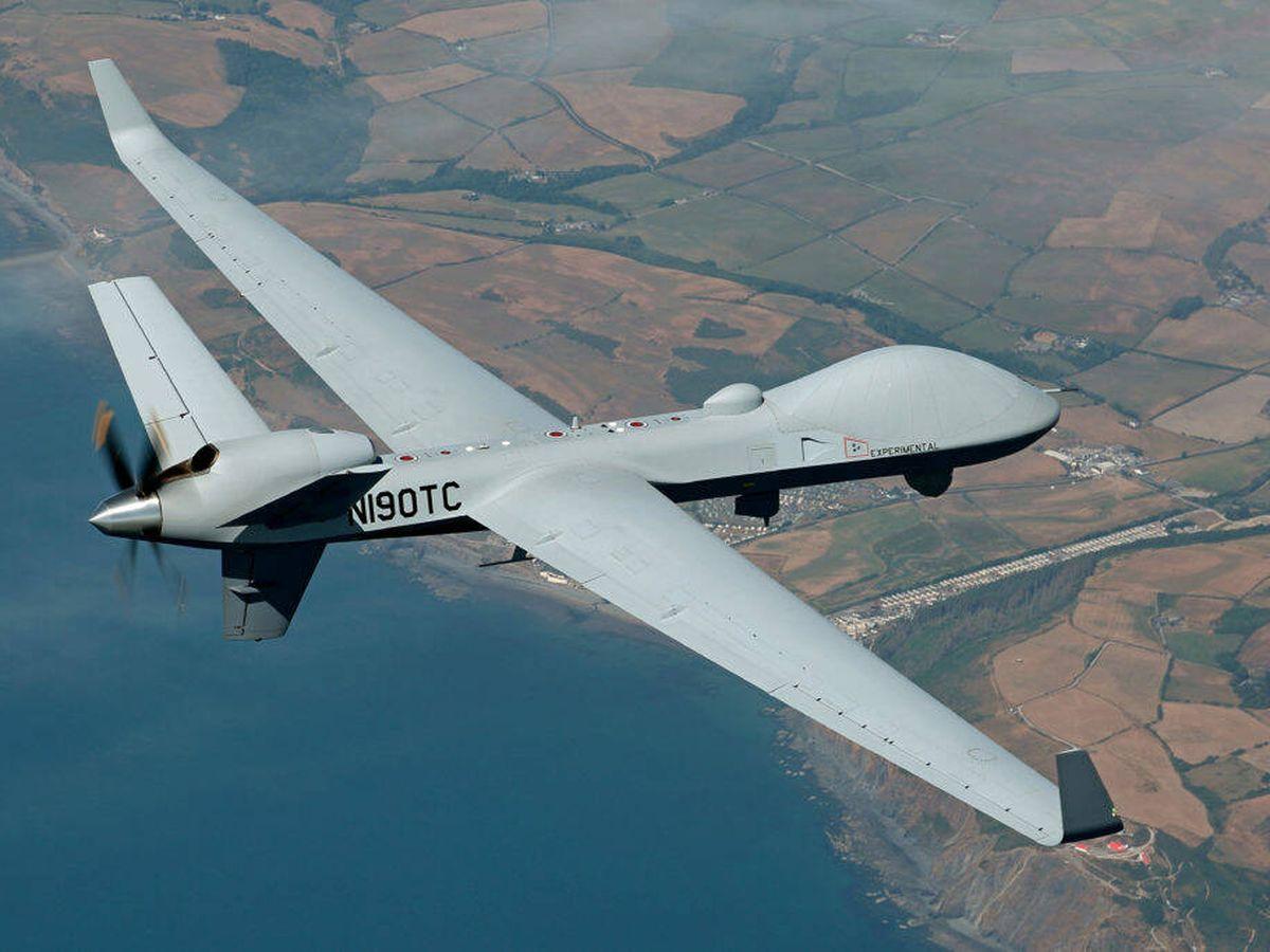 Foto: El dron Skyguardian (GA-ASI).