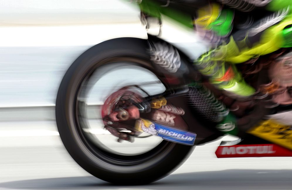 Foto: La moto de Valentino Rossi, en el circuito de Cataluña. (Cordon Press)