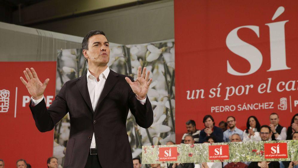 Foto: Pedro Sánchez, en la presentación de su candidatura. (EFE)