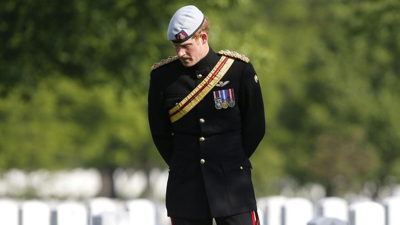 El príncipe Harry, en otro momento de ese día. (Reuters)