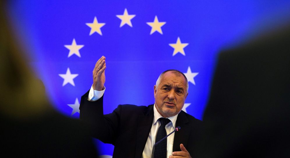 Foto: El primer ministro búlgaro, Boiko Borisov, durante un foro del Banco Mundial. (EFE)