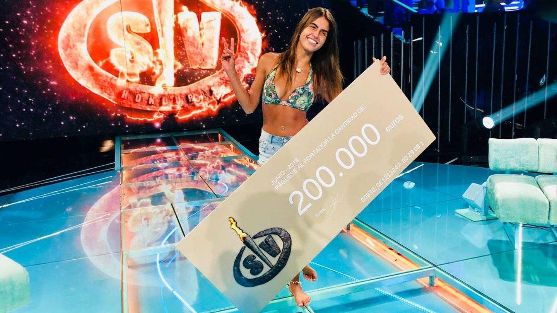 Sofía Suescun, ganadora de 'Supervivientes 2018'. (Mediaset España)
