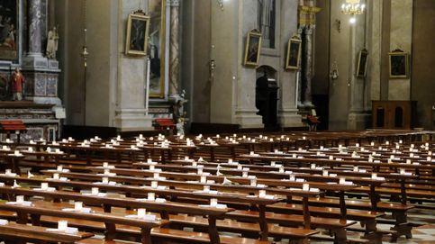150 nombres en una iglesia vacía y acrobacias al amanecer: el día en fotos