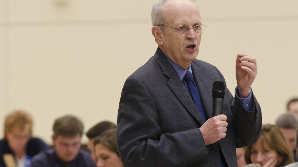 Foto: Ken Bain, durante una de sus charlas.