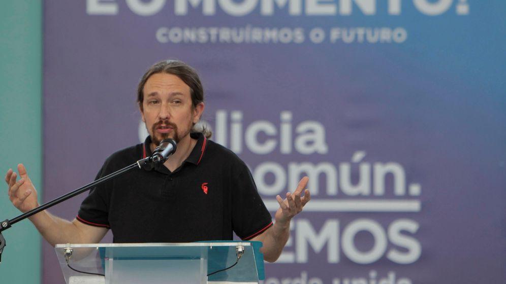 Foto: El vicepresidente del Gobierno, Pablo Iglesias, en un acto en Galicia. (EFE)
