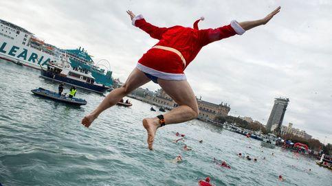 Travesía de Navidad de Gijón y la playa, destino navideño: el día en fotos