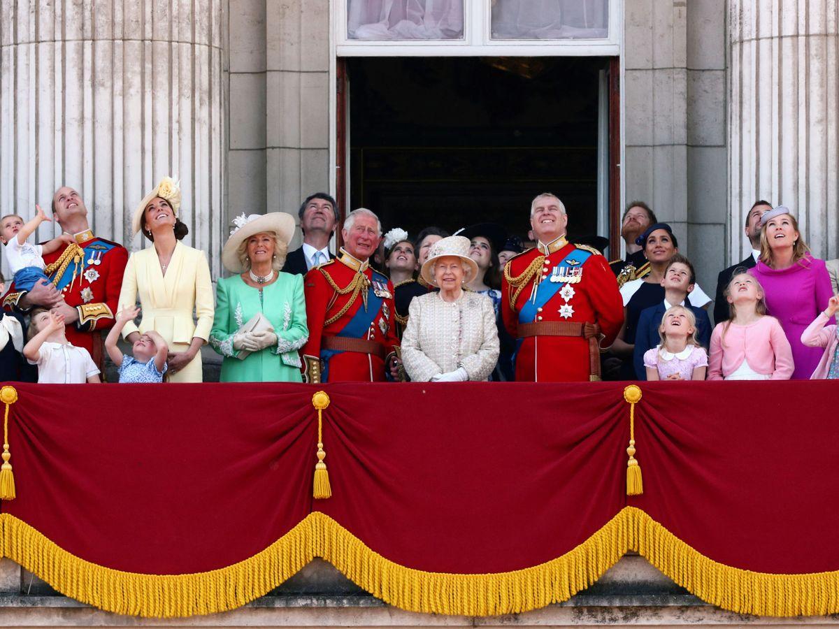 Foto: La familia real celebra el Trooping The Colour. (Reuters)