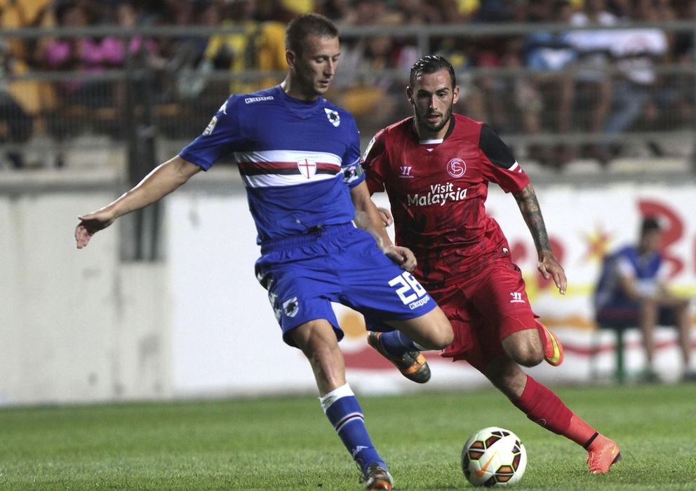 Foto: El Sampdoria fue mejor que el Sevilla (Efe).