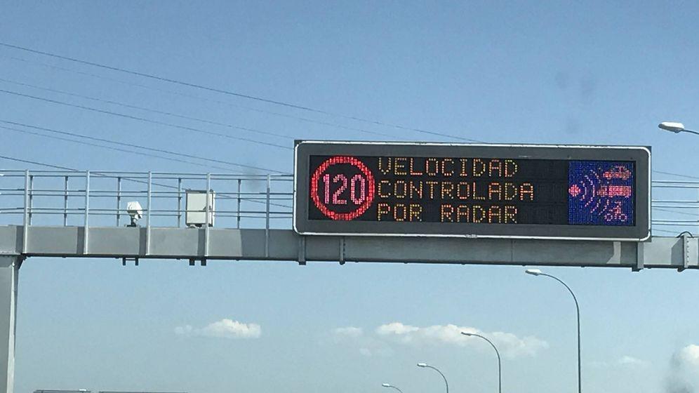 Foto: Radar en la autovía A1.