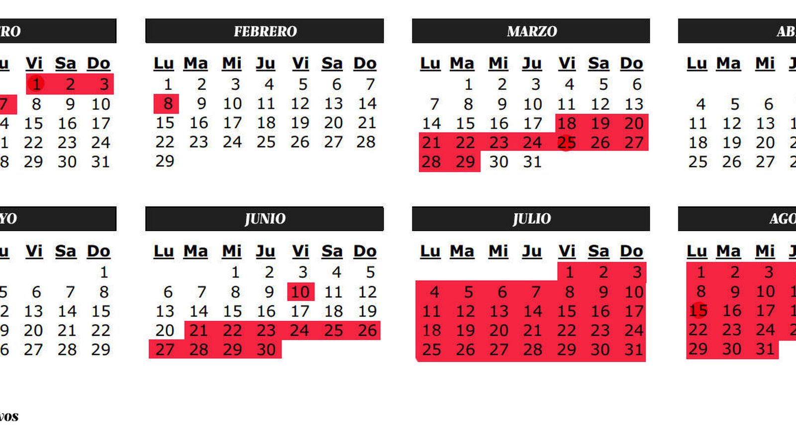 Foto: El calendario escolar de la Comunidad de Madrid. (Carmen Castellón)