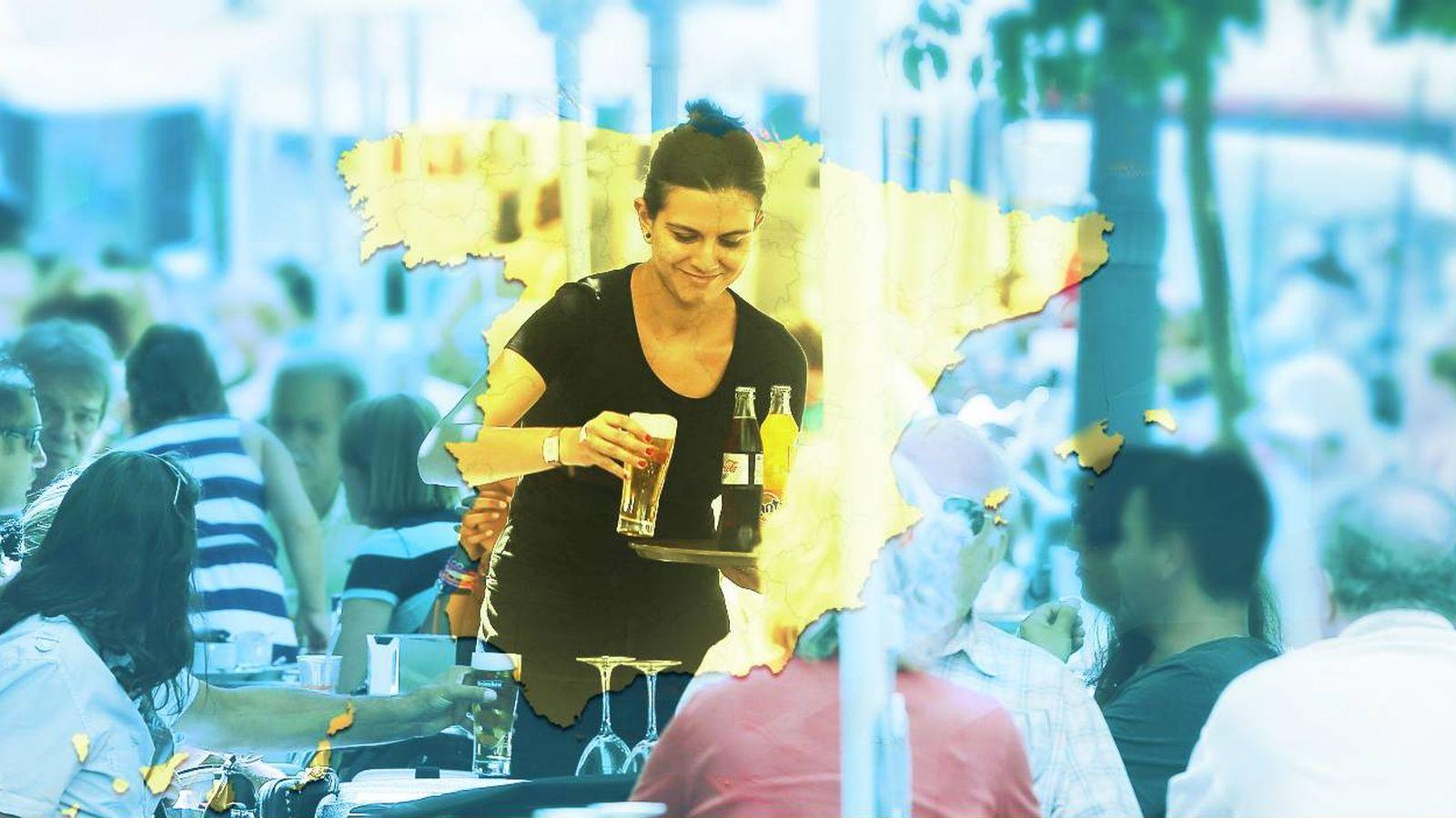 Foto: Ilustración de una camarera EFE/EC