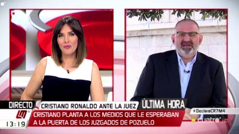 Verónica Sanz espera desde 'Las mañanas de Cuatro' a Cristiano Ronaldo.