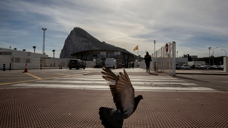 Frontera entre España y Gibraltar. (EFE)