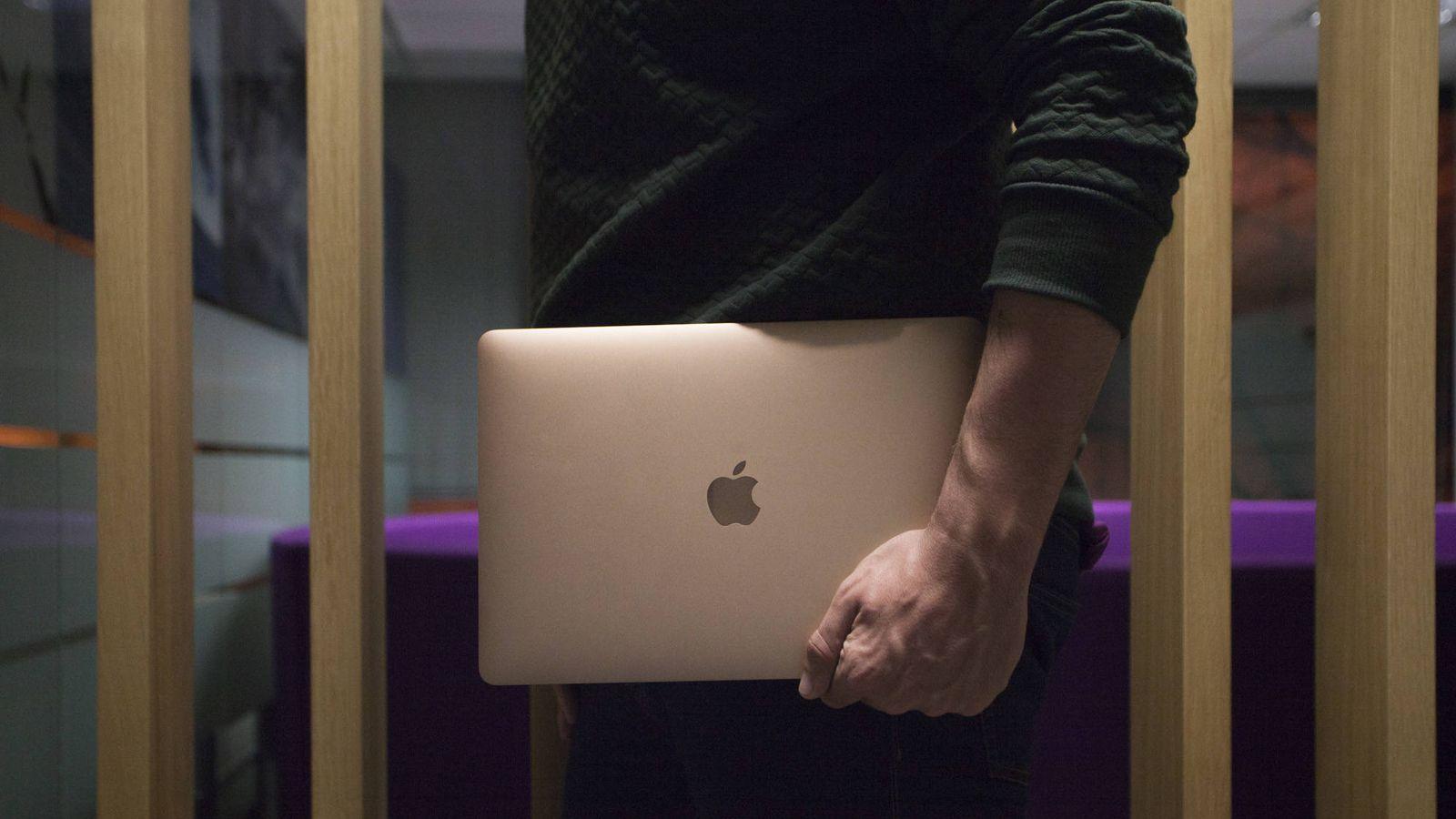 Foto: Vista del nuevo MacBook Air. (E.Villarino)