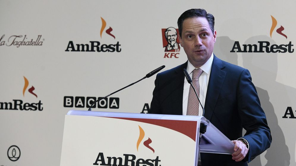 Foto: El presidente del consejo de AmRest, José Parés, en la salida a bolsa. (EFE)
