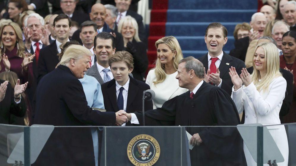 Foto: El presidente Trump, tras jurar su cargo. (Reuters)