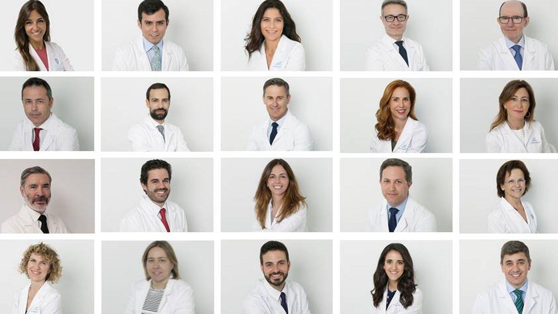 Equipo de dermatólogos que trabajan con el Dr. Ruiz.